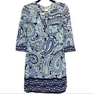 Anthropologie Ali Ro Nautical Preppy Print Dress 6
